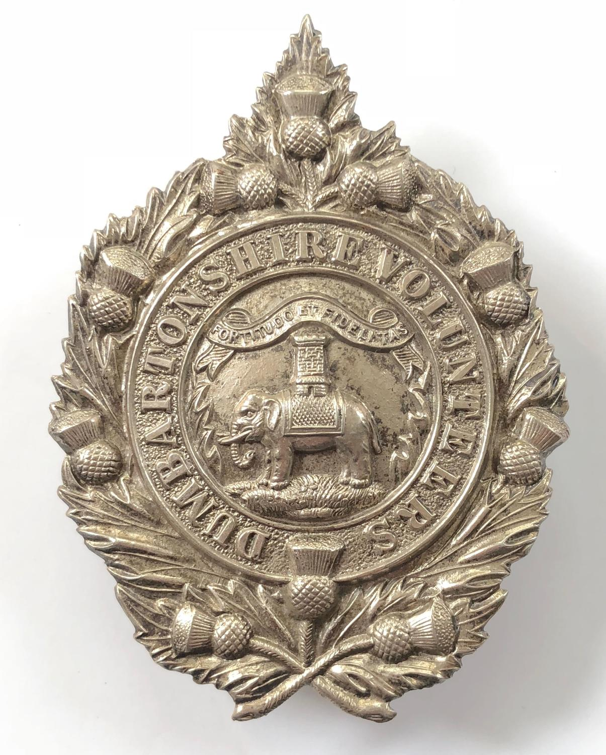1st Dumbartonshire Volunteer Rifle Corps NCO's glengarry badge