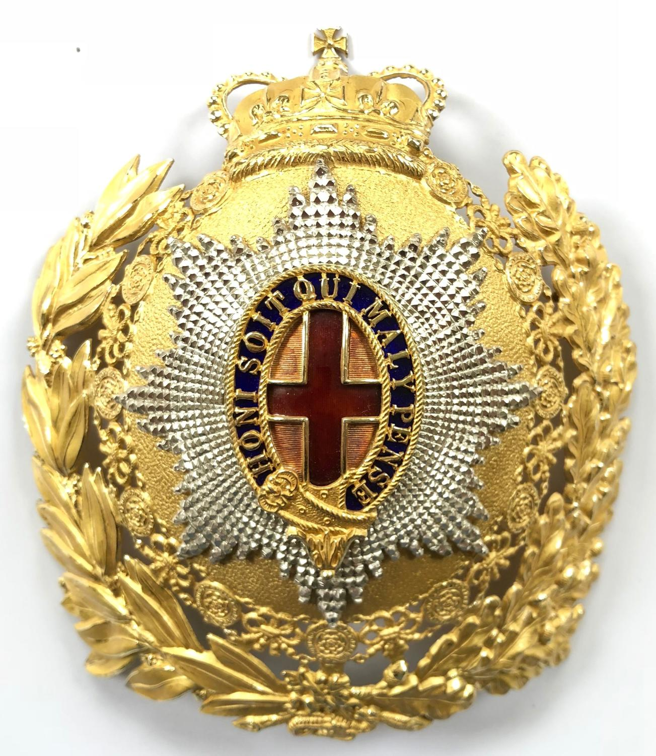 Household Cavalry post 1953 Officer's helmet plate