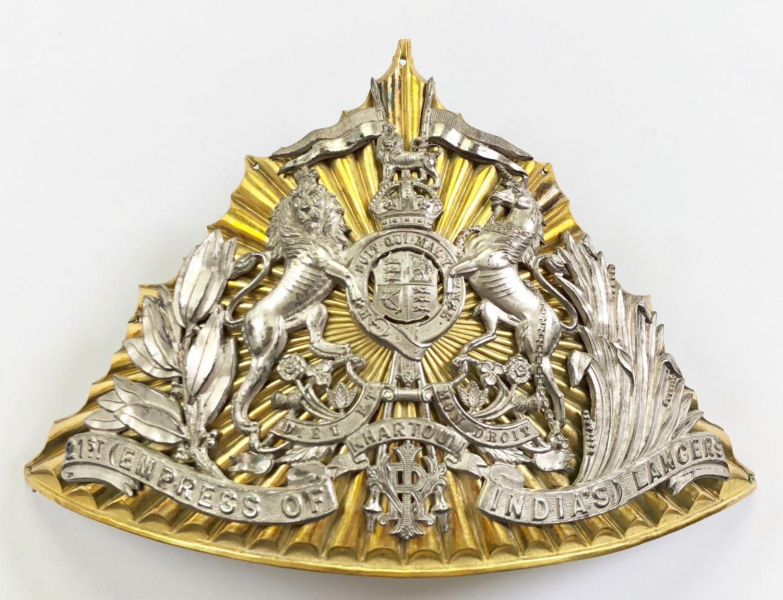 21st (Empress of India's) Lancers Officer's lance cap plate