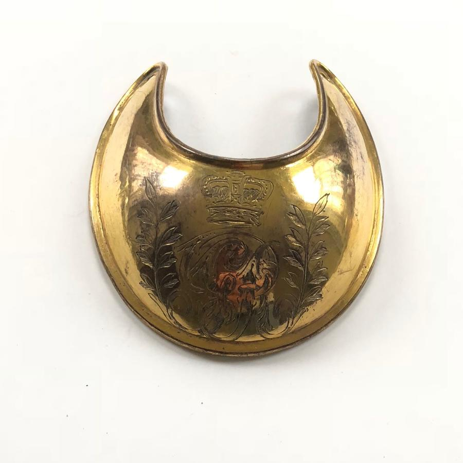 Georgian Officer's Universal Pattern gorget circa 1796-1830
