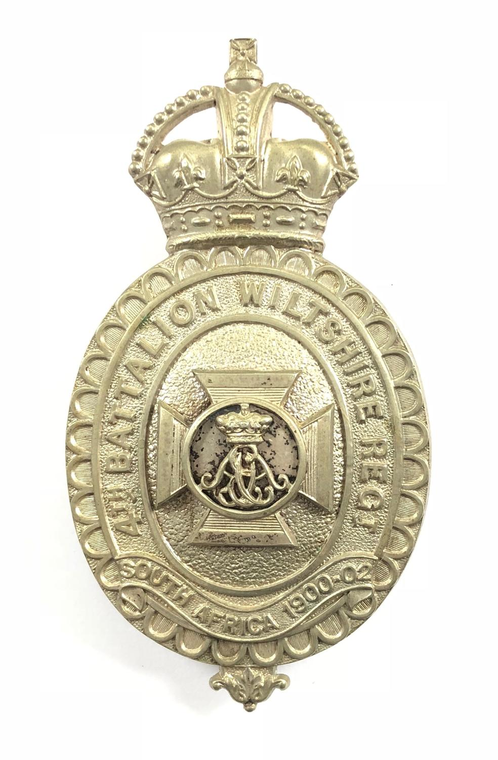 4th Bn. Wiltshire Regiment post 1908 Officer's pouch belt plate
