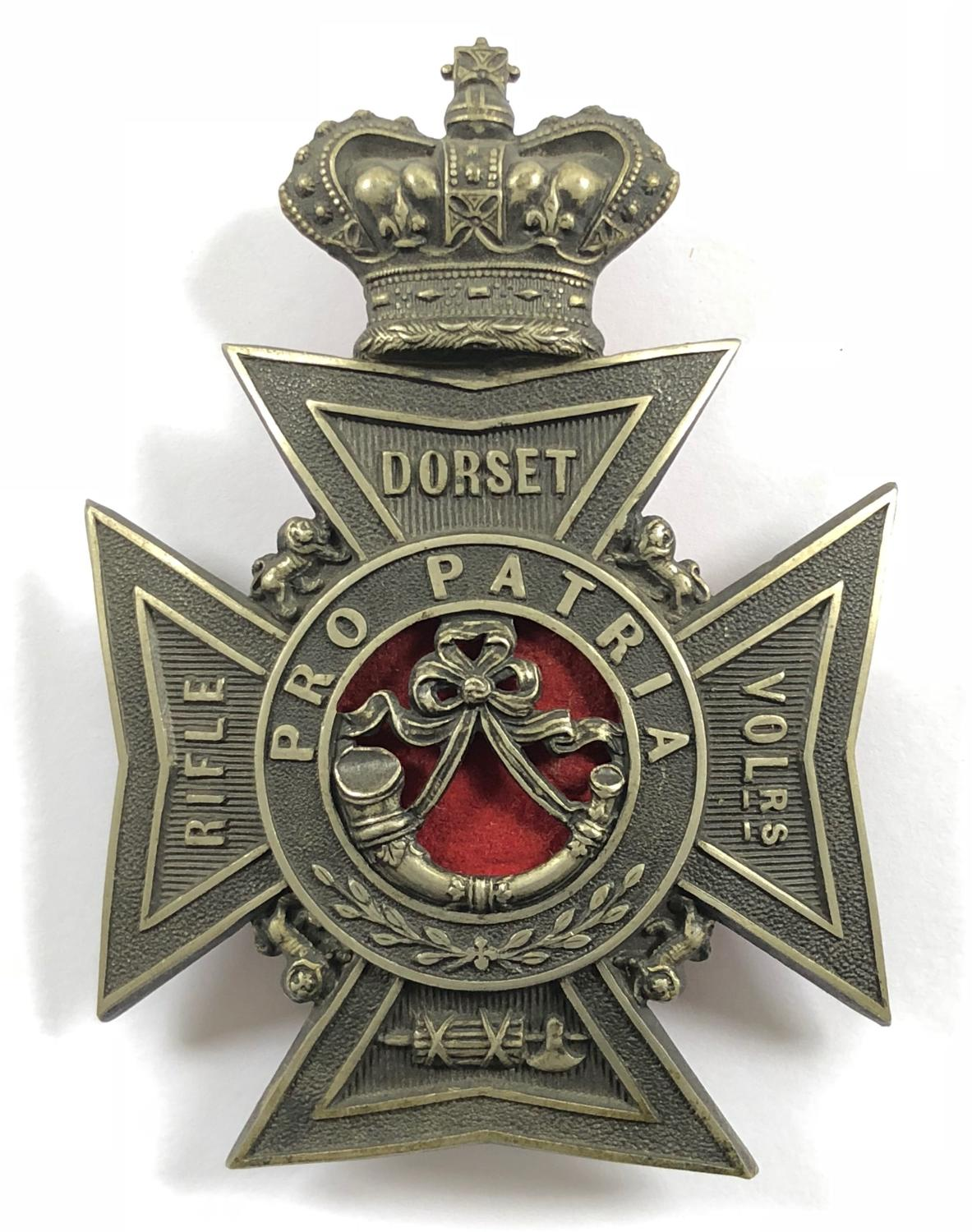 Dorset Rifle Volunteers Victorian Officer's helmet plate