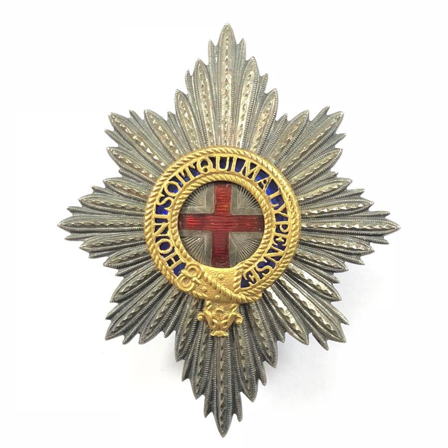 Coldstream Guards Officer's Foreign Service helmet pagri badge