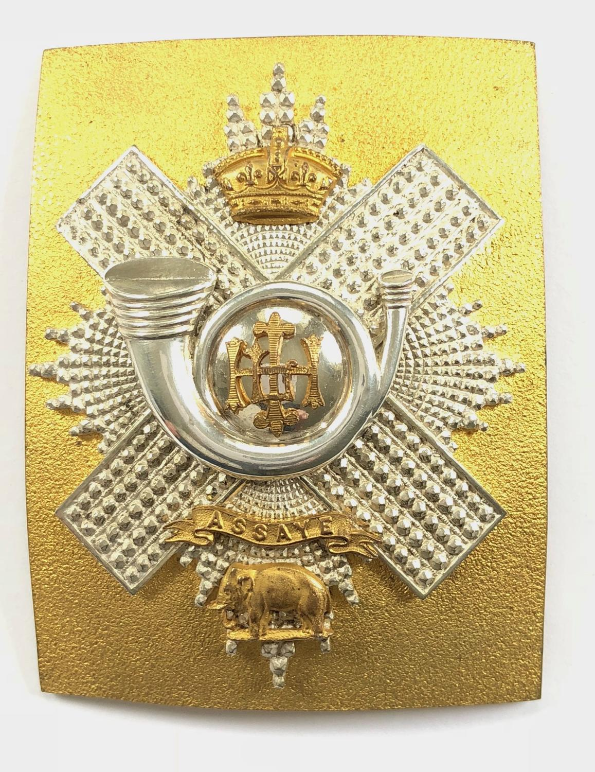 Highland Light Infantry Victorian HLI Officer's shoulder belt plate