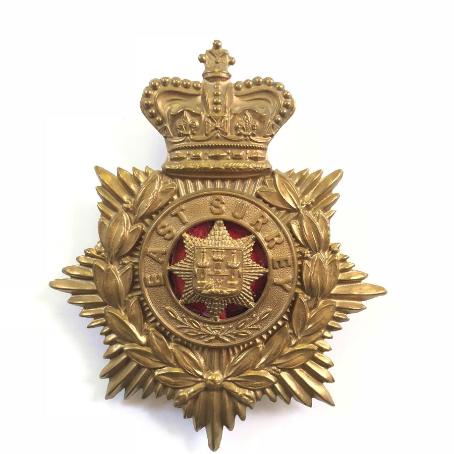 East Surrey Regiment Victorian OR's helmet plate circa 1881-1901