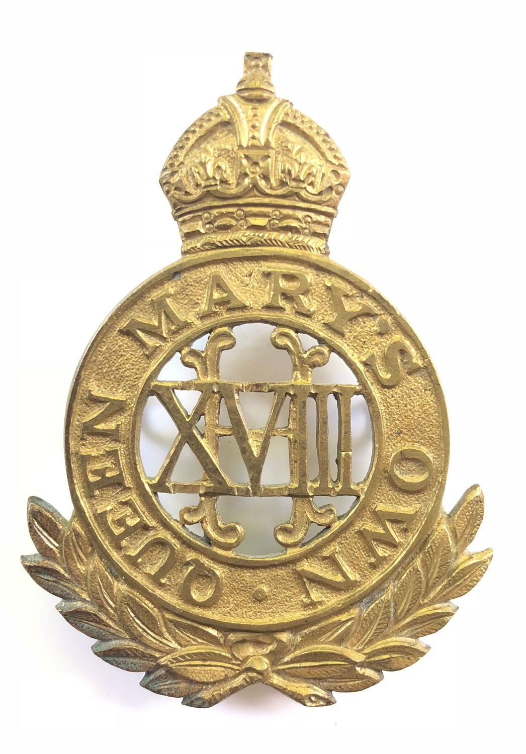 18th QMO Hussars band music pouch badge circa 1910-22