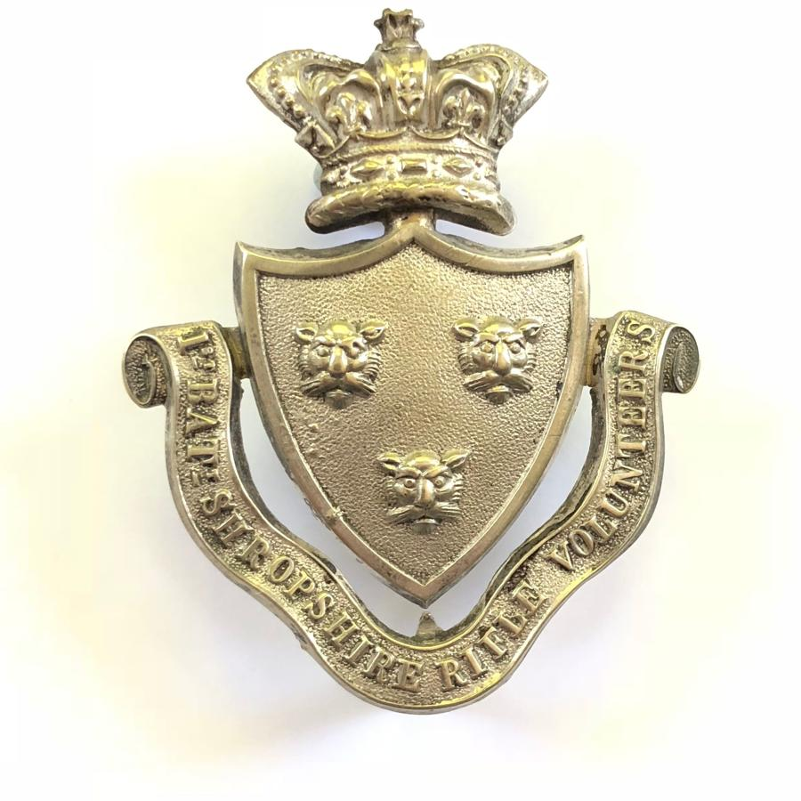 1st Bn. Shropshire Rifle Vols. Victorian Officer's pouch belt plate.