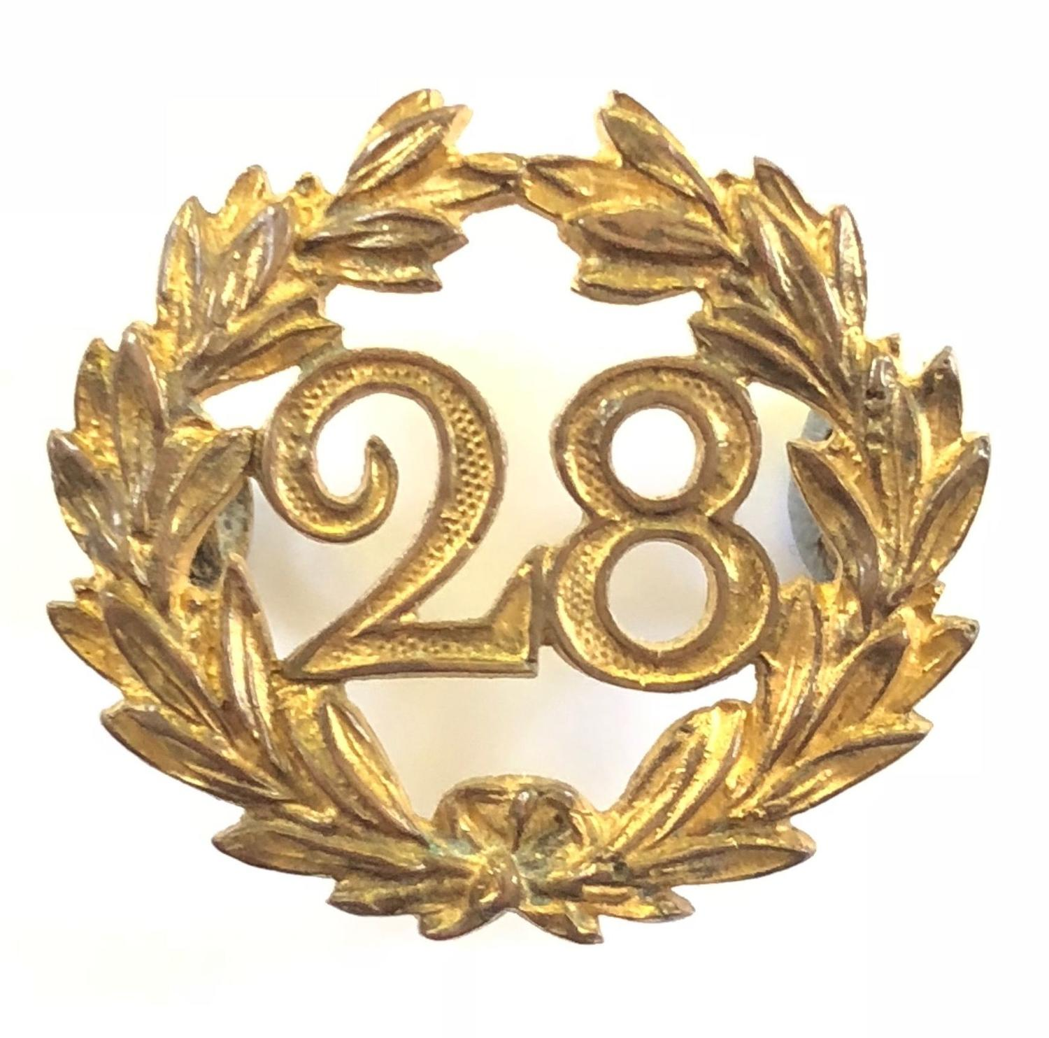 28th Foot (North Gloucester) Victorian Officer's helmet back badge