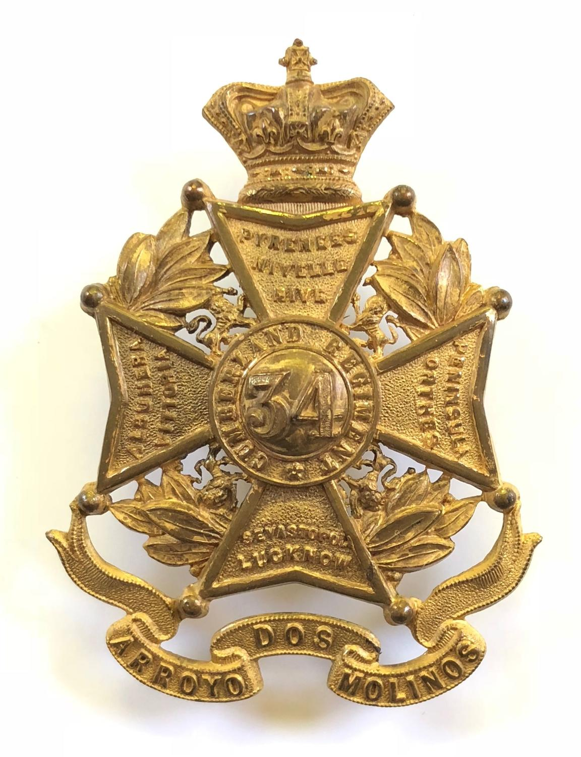 34th (Cumberland) Foot, Victorian senior NCO's glengarry badge