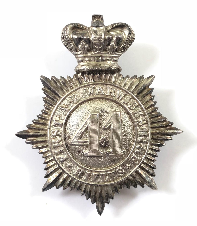 1st Admin Bn. Warwickshire Rifle Vols Victorian Officer's shako plat