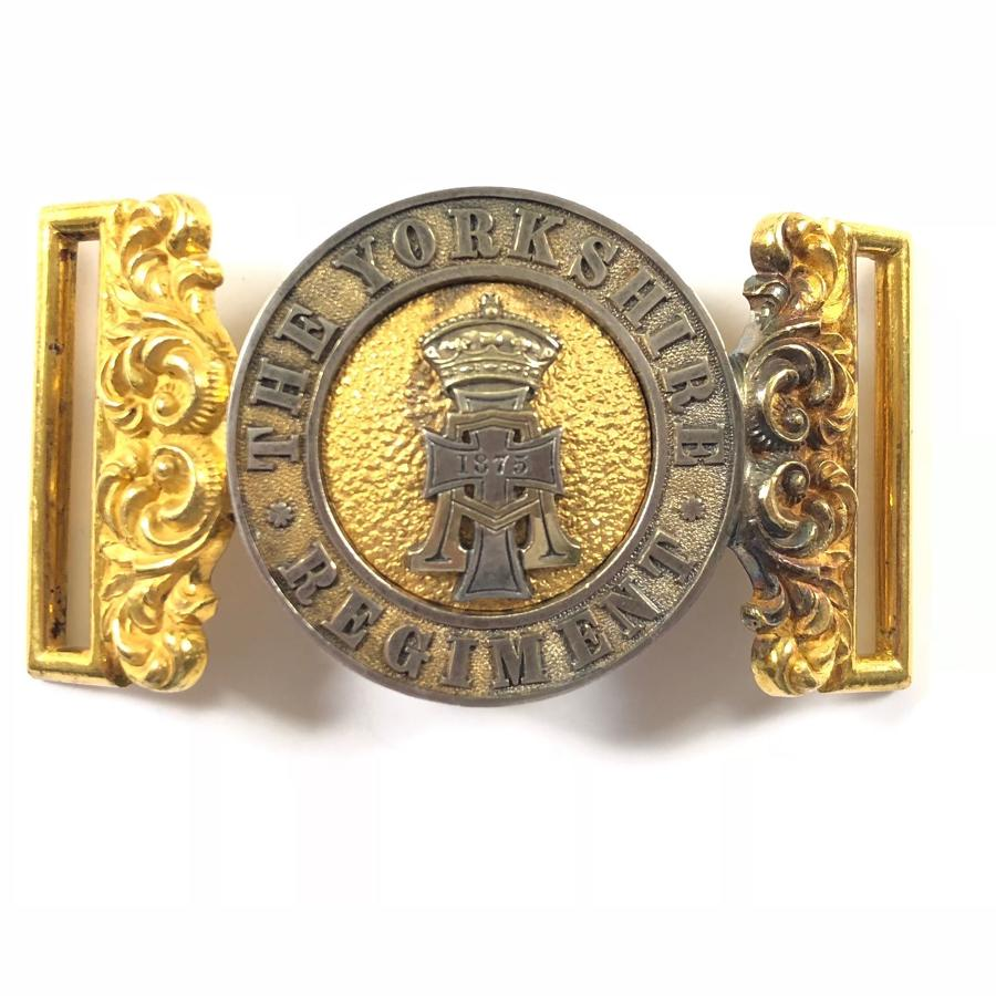 The Yorkshire Regiment Victorian Officer's waist belt clasp