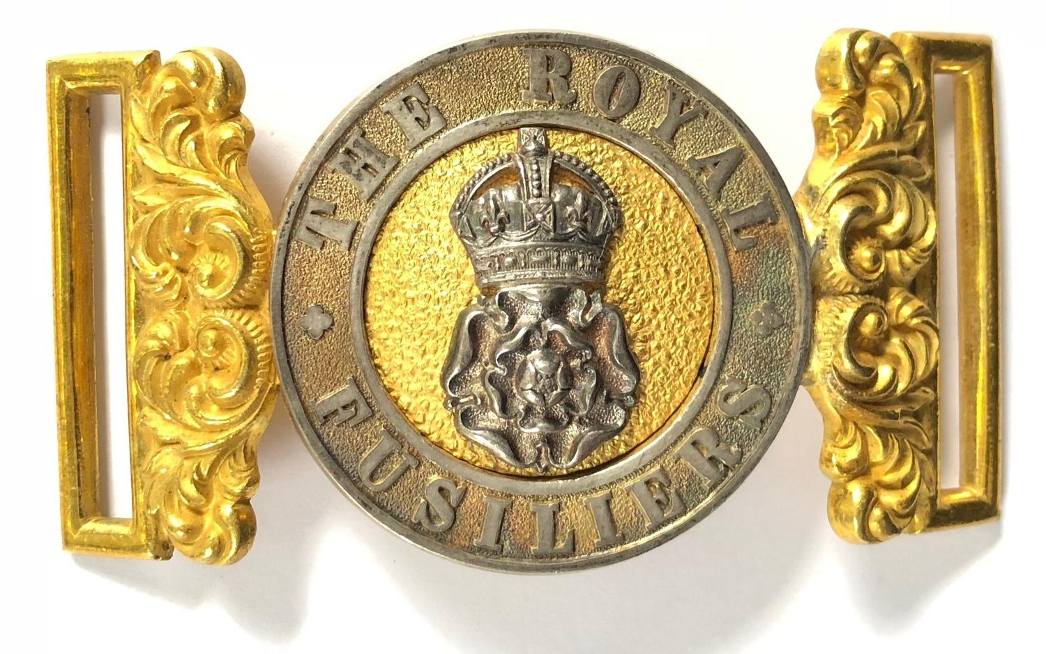Royal Fusiliers Edwardian Officer's waist belt clasp 1901/02 only