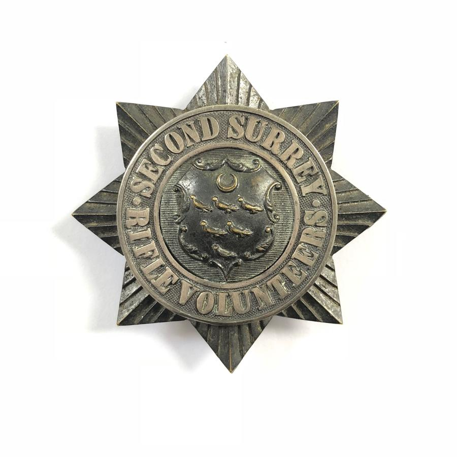 2nd Surrey Rifle Volunteers Victorian Officer's glengarry badge