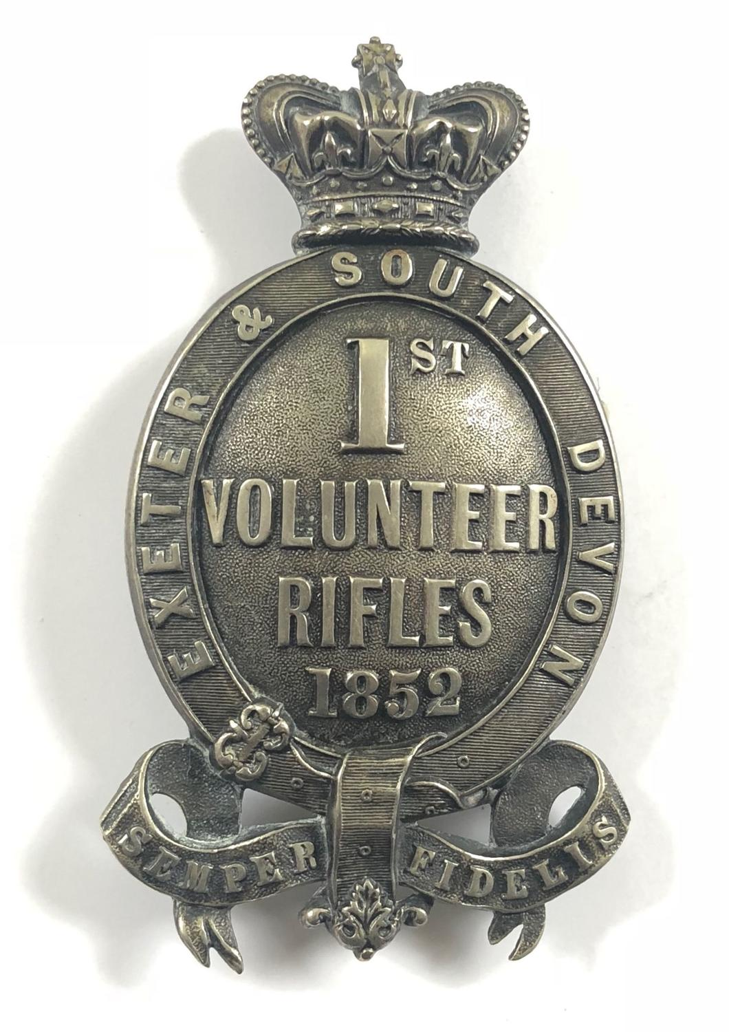 1st (Exeter & South Devon) Rifle Vols Officer's pouch belt plate