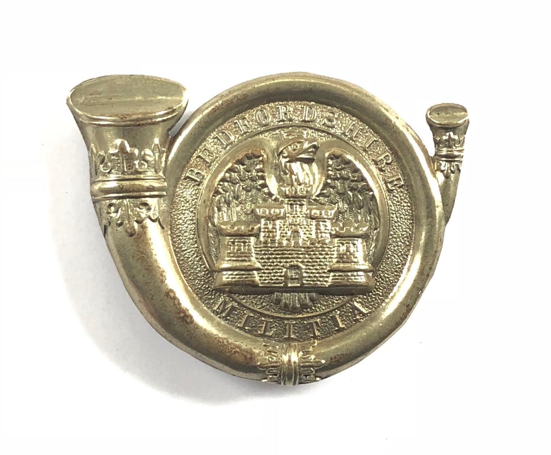 Bedfordshire Light Infantry Militia glengarry badge circa 1874-81