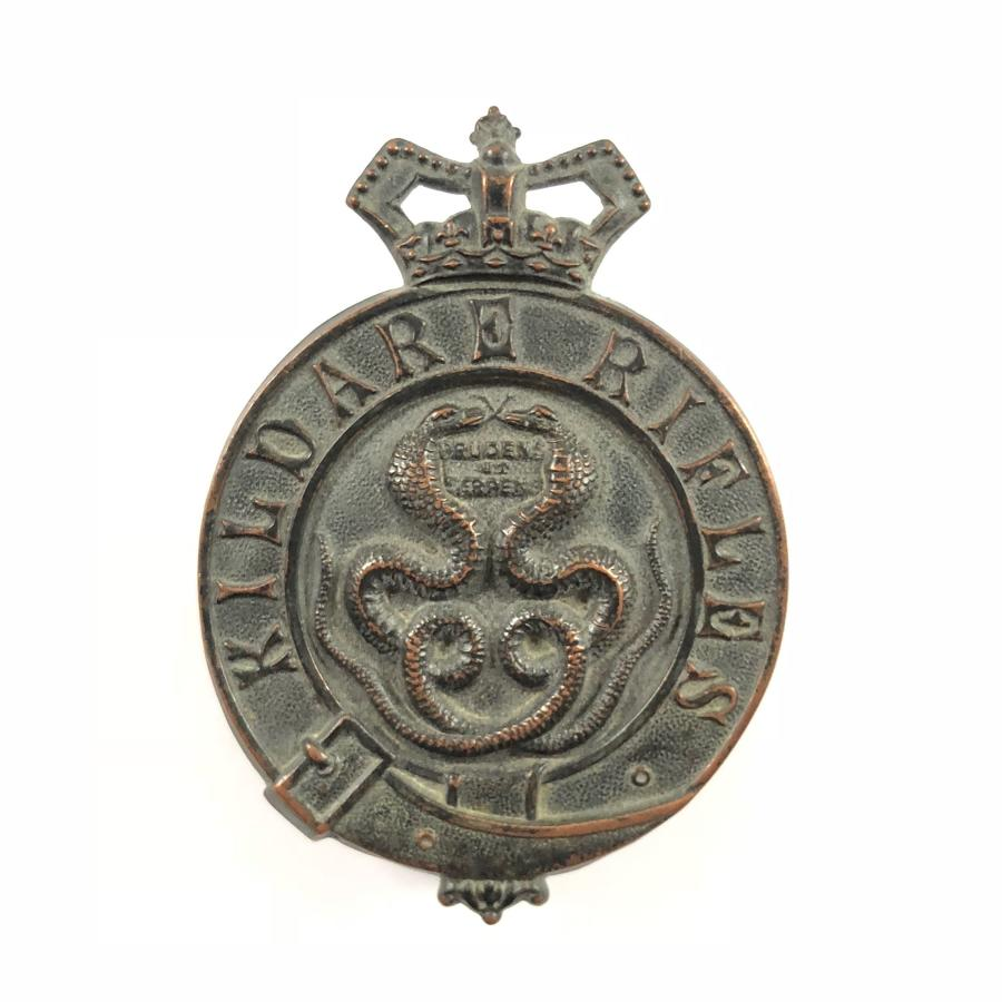 Irish. Kildare Rifles Militia Victorian OR's glengarry badge