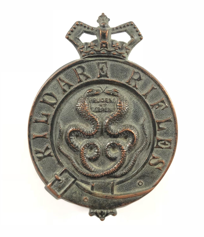 Irish. Kildare Rifles Militia Victorian OR's glengarry badge