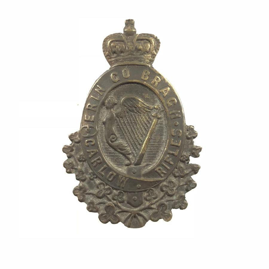 Irish Carlow Rifles Militia Victorian OR's glengarry badge