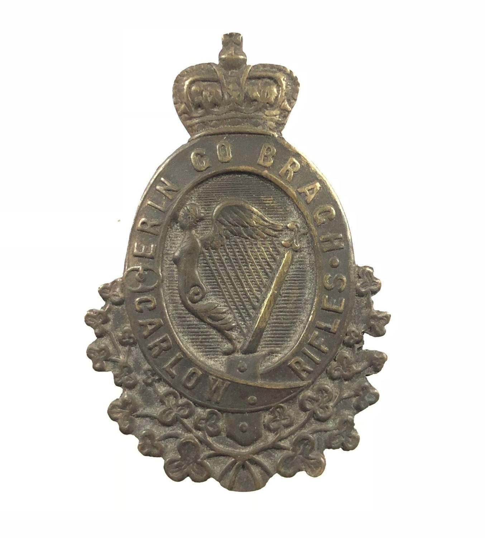 Irish Carlow Rifles Militia Victorian OR's glengarry badge