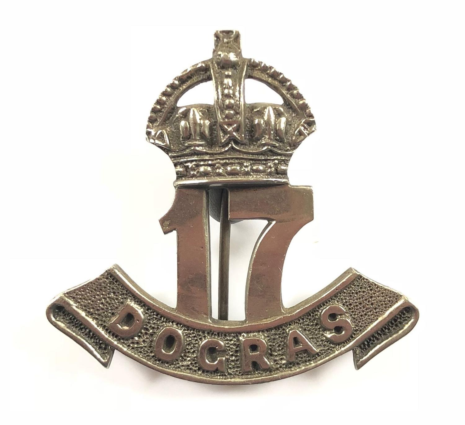 Indian Army: 17th Dogra Regiment post 1922 Officer's pagri badge