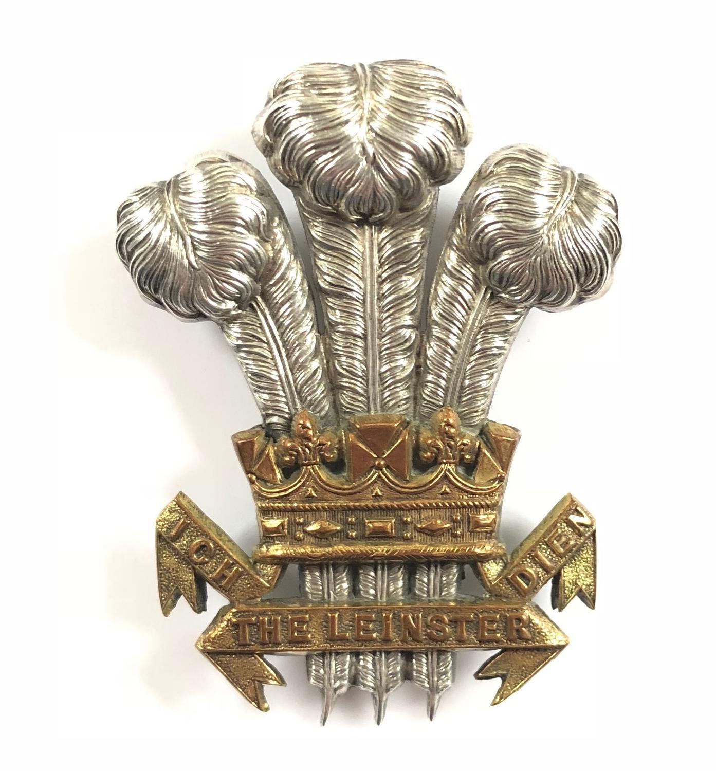 Irish: Leinster Regiment Victorian Officer's forage cap badge