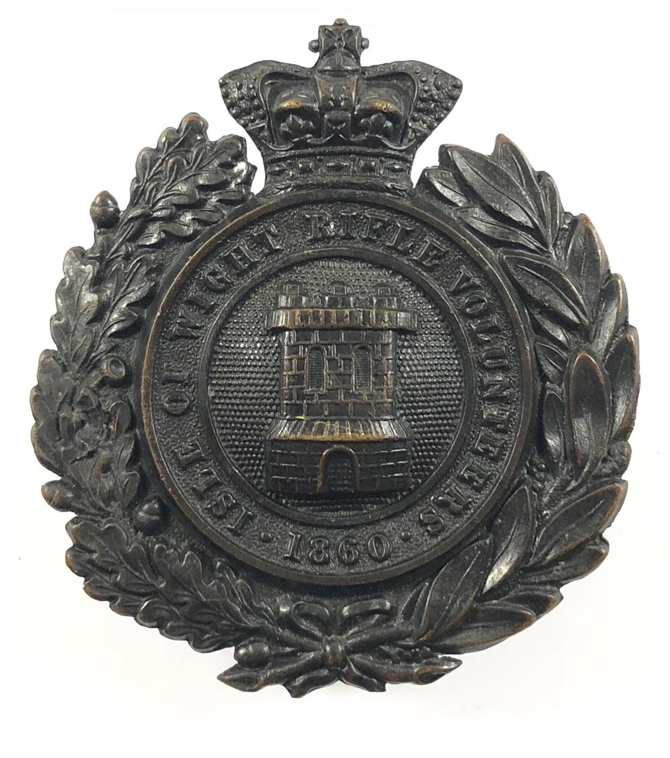 Isle of Wight Rifles Victorian pouch belt plate