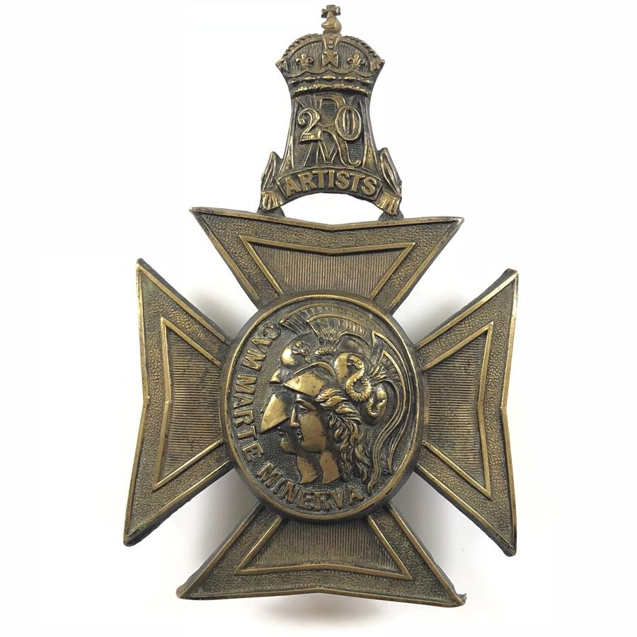 20th Middlesex (Artists) Rifle Volunteers OR's helmet plate 1880-190
