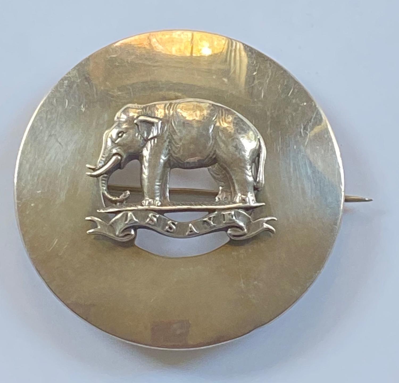 74th Highlanders Officer's undress 1866 HM silver plaid brooch