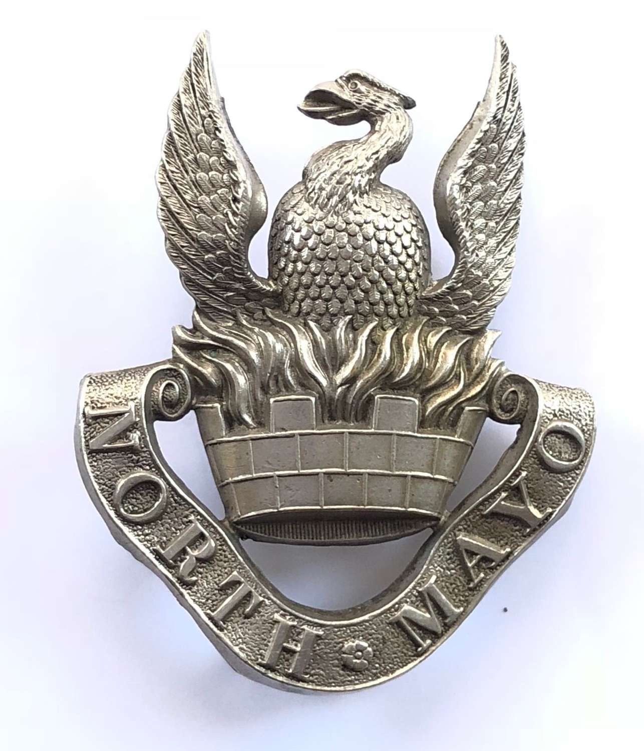 North Mayo Fusiliers Militia Victorian glengarry badge circa 1874-81