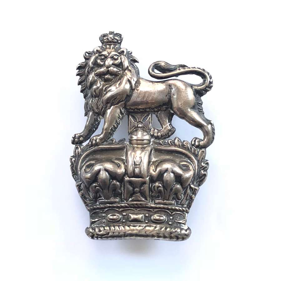 Royal Dragoons Victorian Boer War 1901 hallmarked silver NCO arm badge
