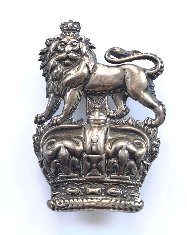 Royal Dragoons Victorian Boer War 1901 hallmarked silver NCO arm badge