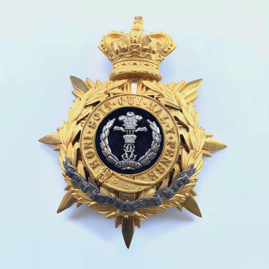 Middlesex Regiment Victorian Officer's helmet plate circa 1881-1901