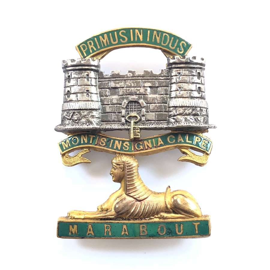 Dorsetshire Regiment Victorian Officer's forage cap badge C1881-94