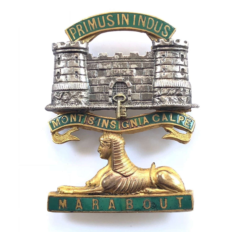 Dorsetshire Regiment Victorian Officer's forage cap badge C1881-94