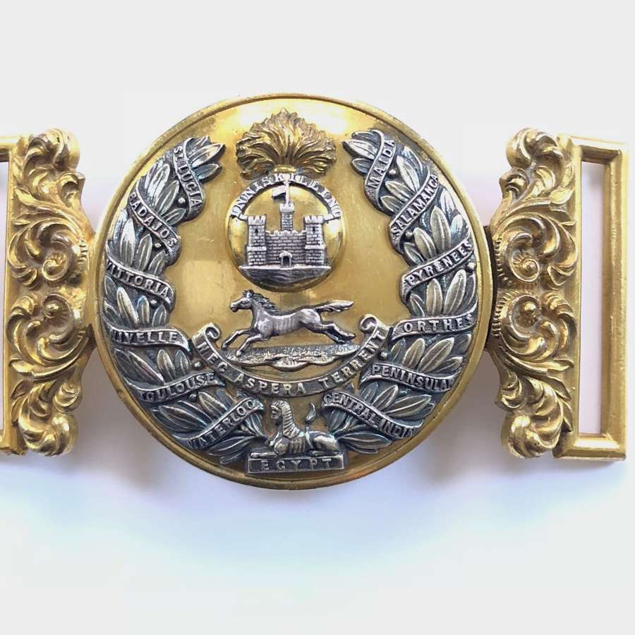 Royal Inniskilling Fusiliers Victorian Officer's waist belt clasp