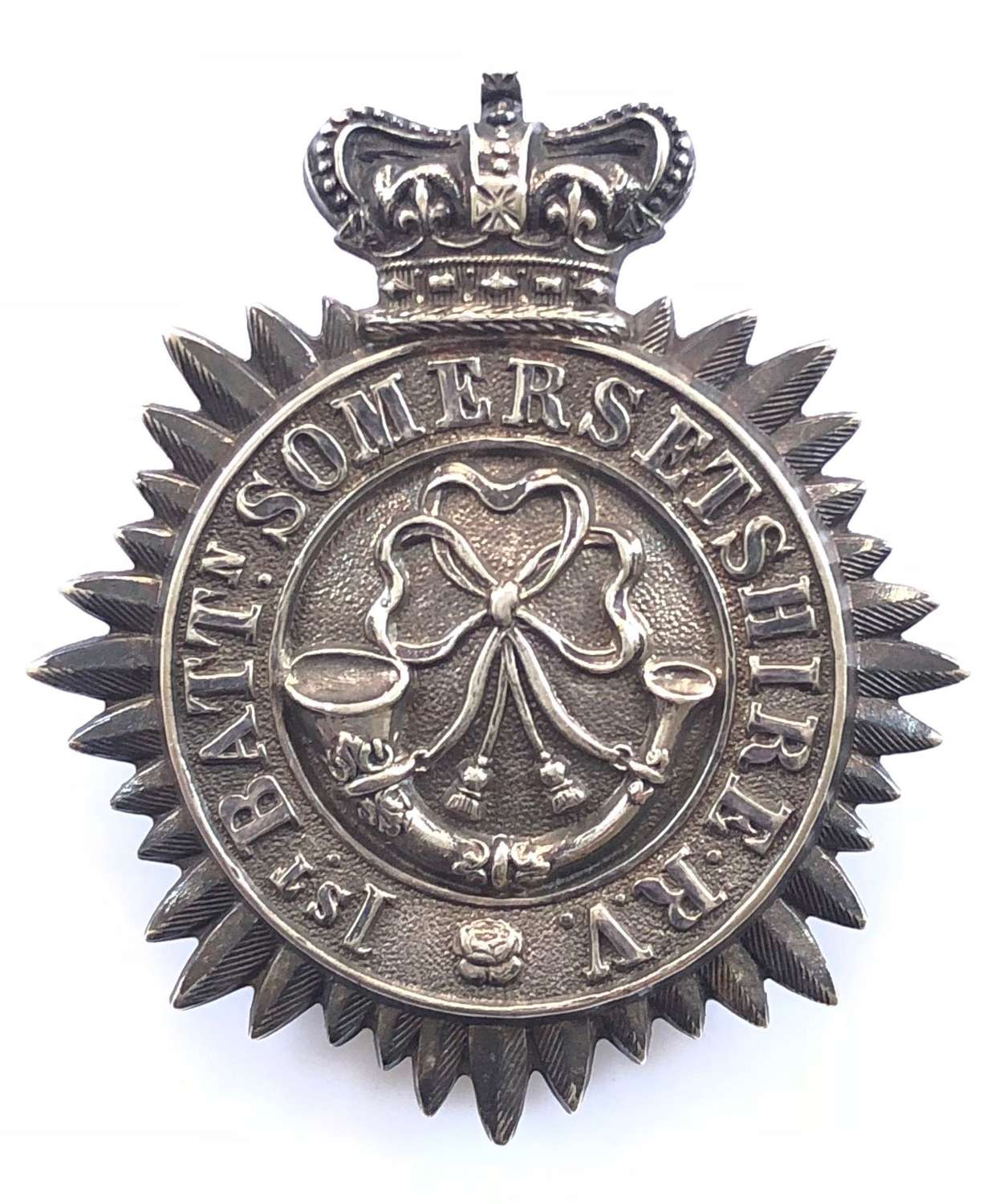 1st Bn. Somerset Rifle Volunteers 1860's Victorian shako plate