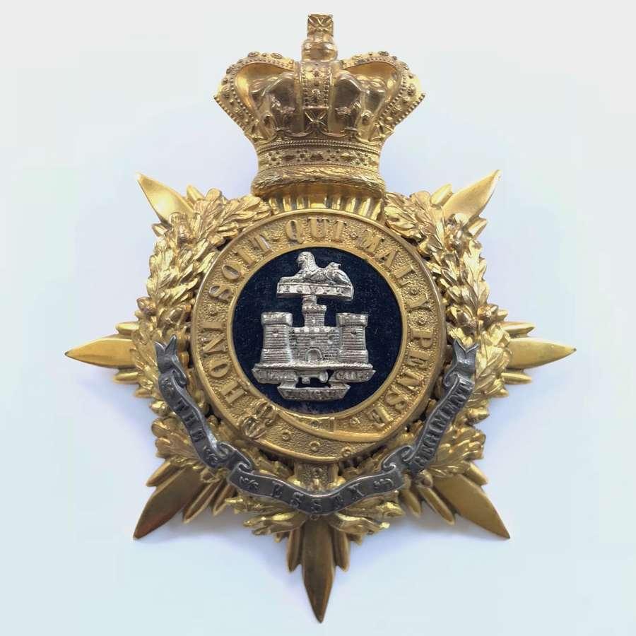 Essex Regiment Victorian Officer's helmet plate circa 1881-1901