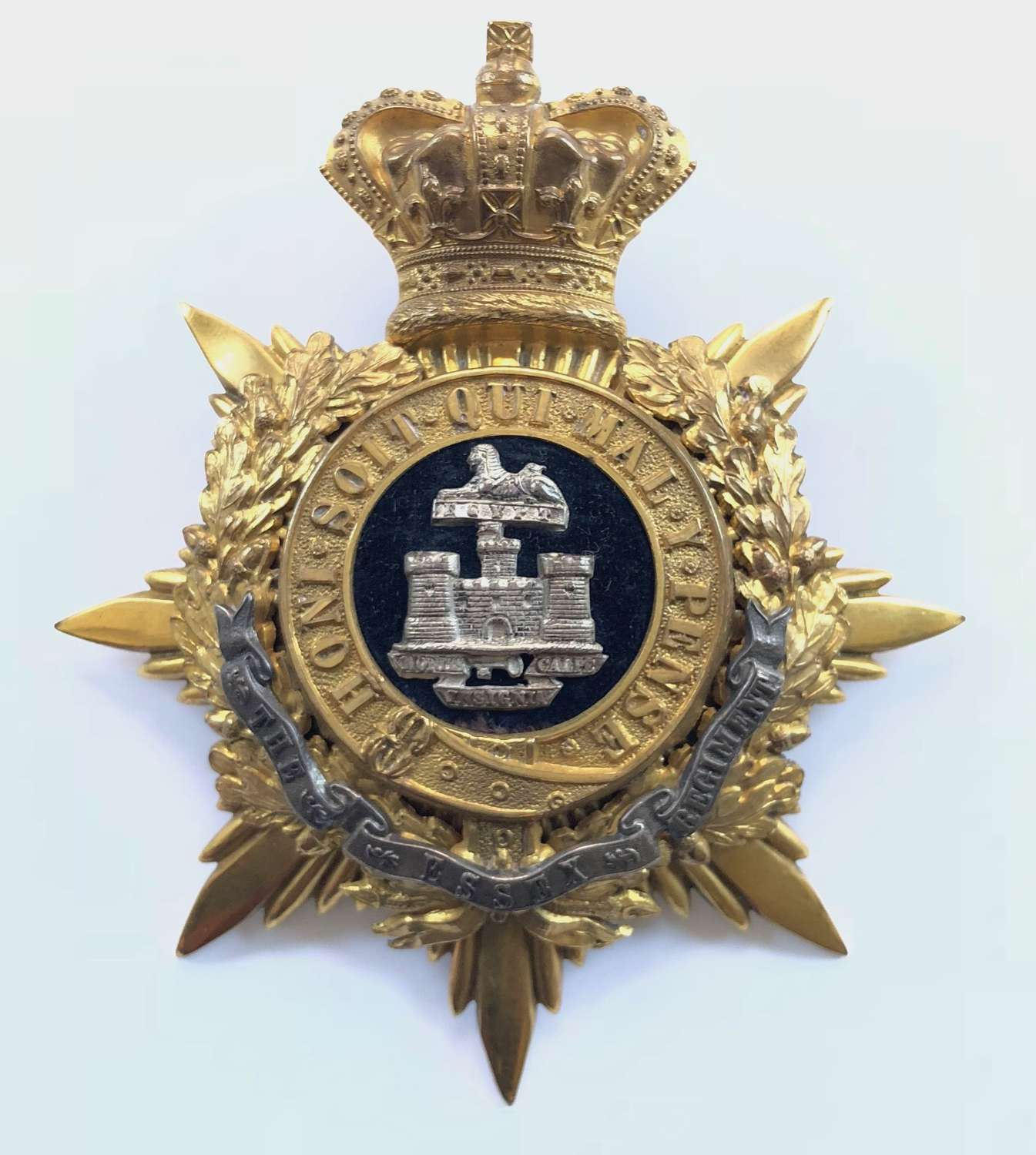 Essex Regiment Victorian Officer's helmet plate circa 1881-1901