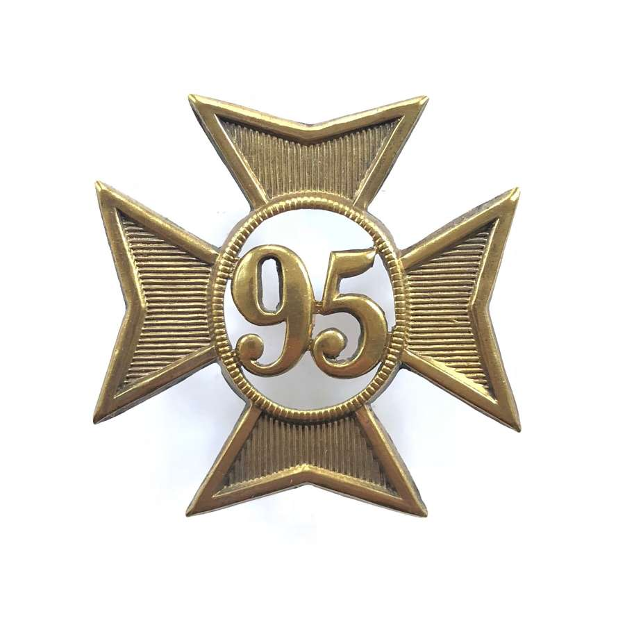 95th (Derbyshire) Regiment of Foot OR's glengarry badge C 1874-1881