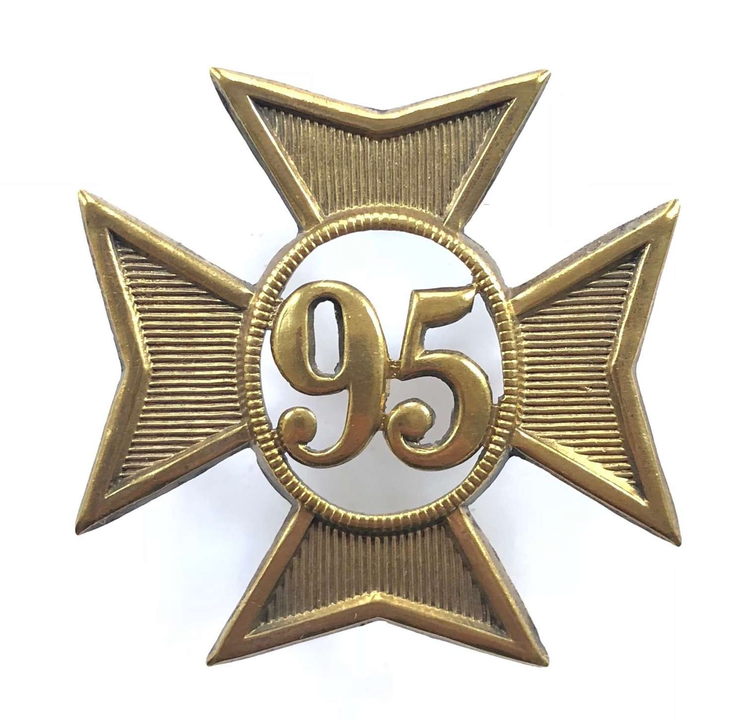 95th (Derbyshire) Regiment of Foot OR's glengarry badge C 1874-1881
