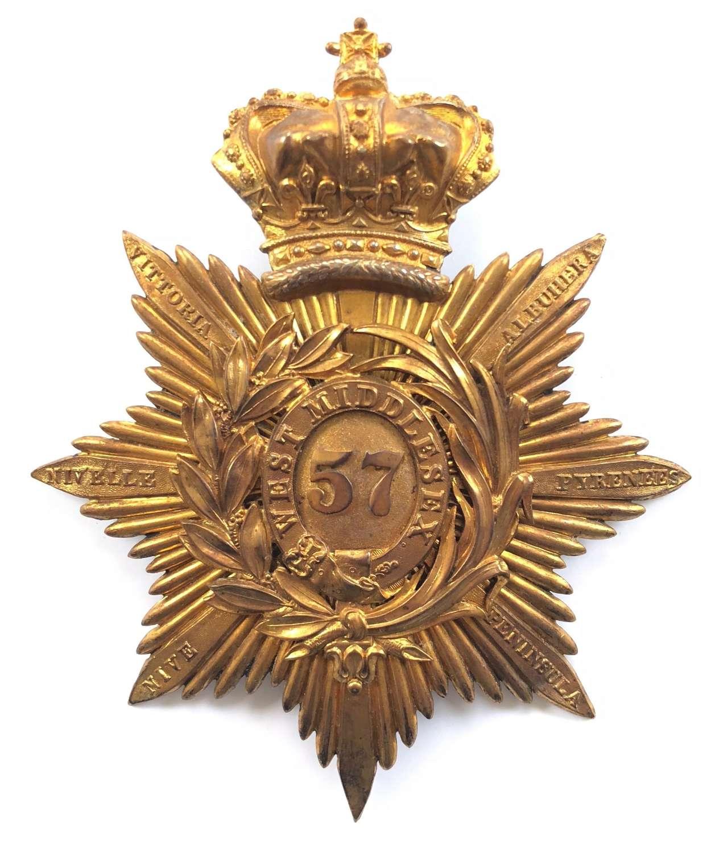 57th (West Middlesex) Regiment of Foot Officer's 'Albert' shako