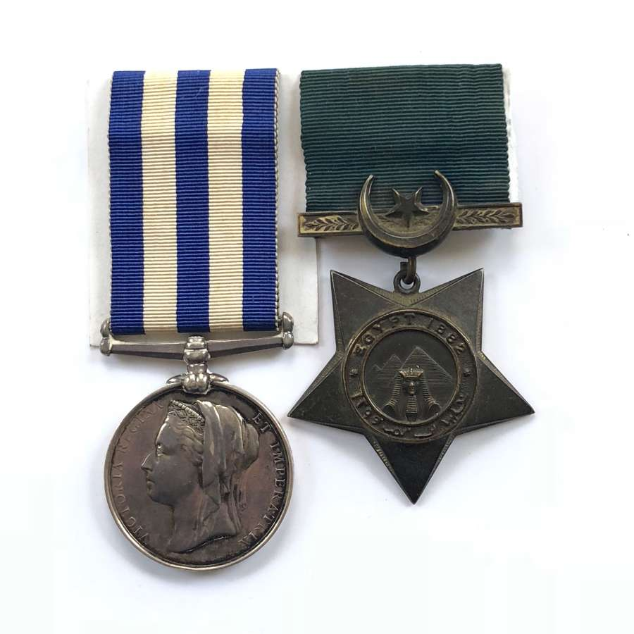 Royal Navy Navigation Lieutenant HMS Seahorse Egypt pair of medals