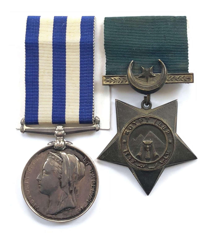 Royal Navy Navigation Lieutenant HMS Seahorse Egypt pair of medals