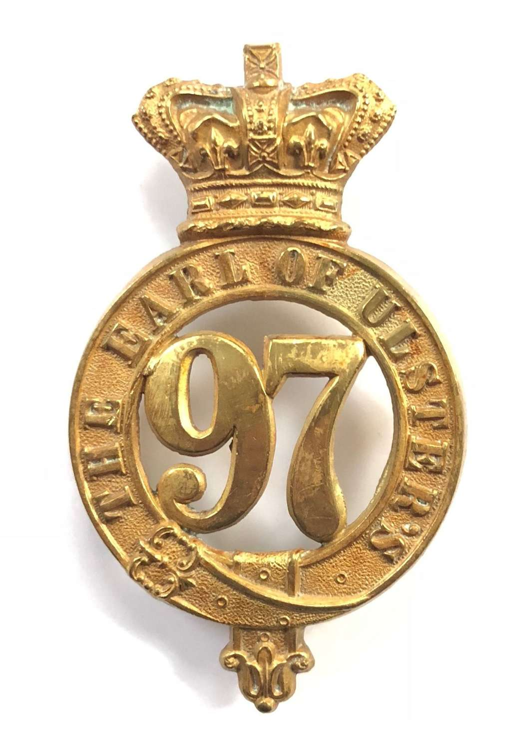 97th (Earl of Ulsters) Regiment Victorian senior NCO glengarry badge