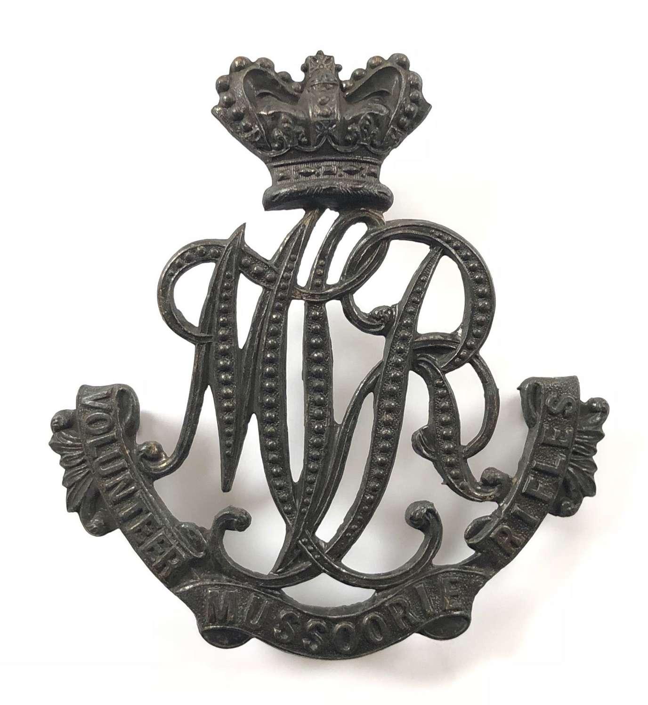 Indian Army. Mussoorie Volunteer Rifles Victorian helmet plate
