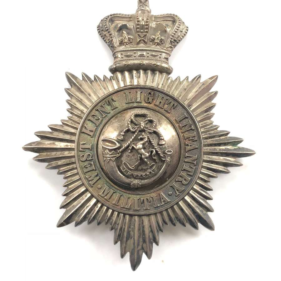 West Kent Light Infantry Militia Victorian Officer's 1855 shako plat