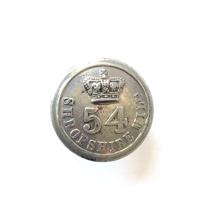 Shropshire Militia Victorian pewter open-back coatee button  c1833-55