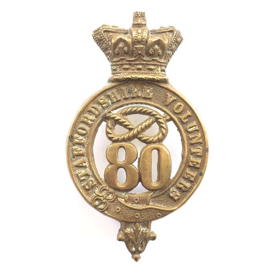 80th (Staffordshire Vols.) Regiment of Foot Victorian glengarry badge