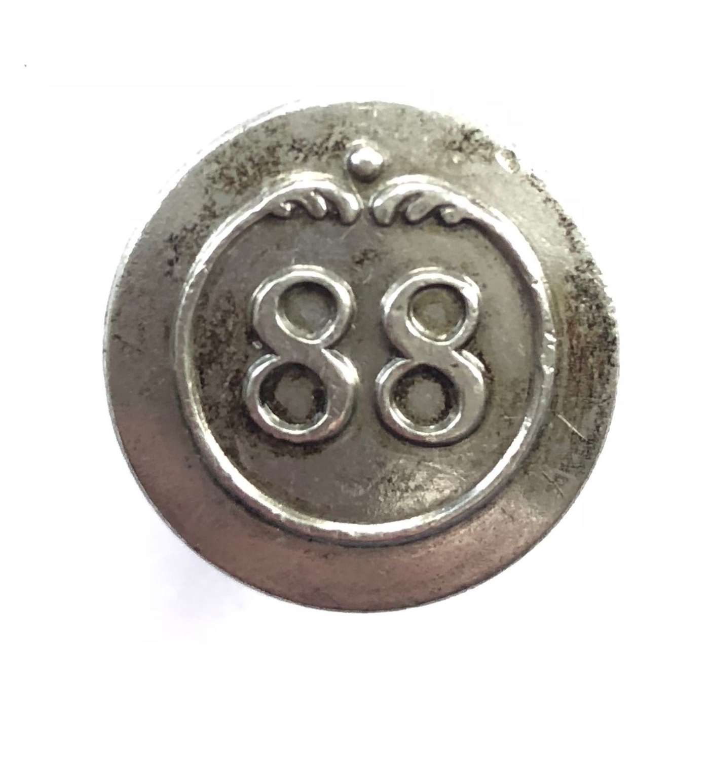 88th Connaught Rangers Virtorian pewter coatee button