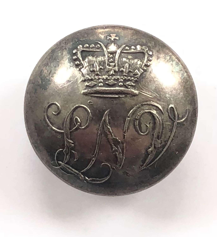 Loyal Nottingham Volunteers Georgian Officer's coatee button